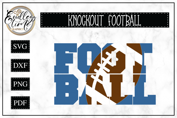 Football In Football Knockout SVG Cut File
