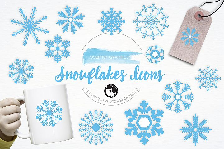 Snowflakes Icons graphics and illustrations