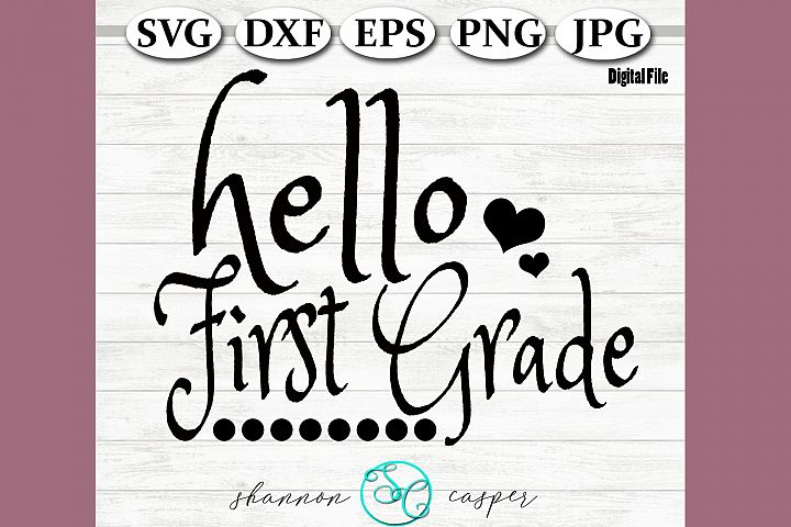 Back to School | First Grade SVG