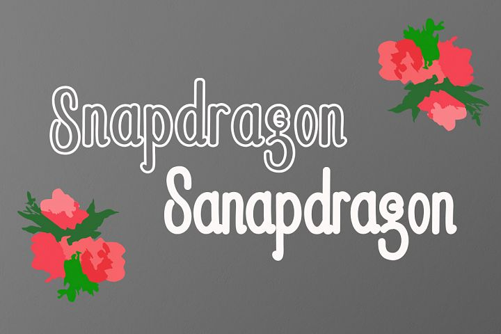 Snapdragon - Free Font of The Week Design0