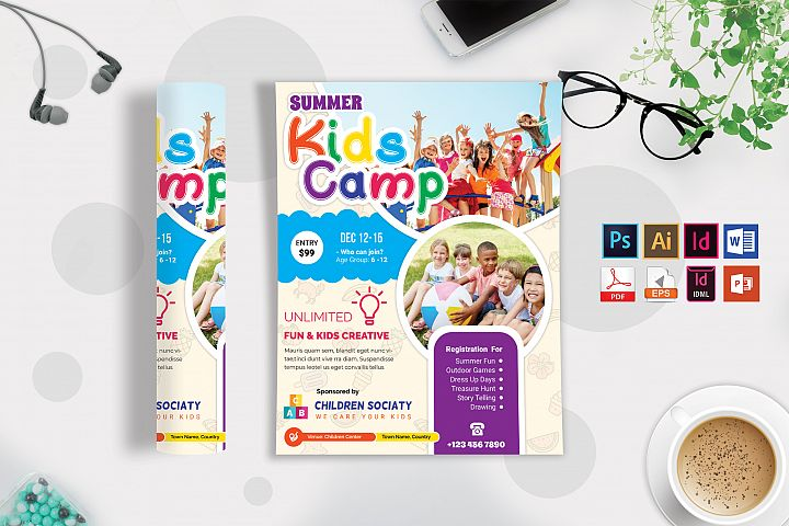 Kids Summer Camp Flyer Vol-09