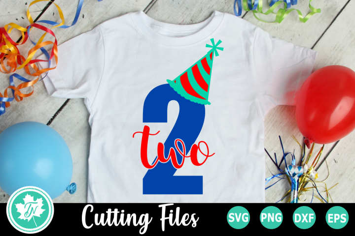 Two Party Hat - A Second Birthday SVG Cut File