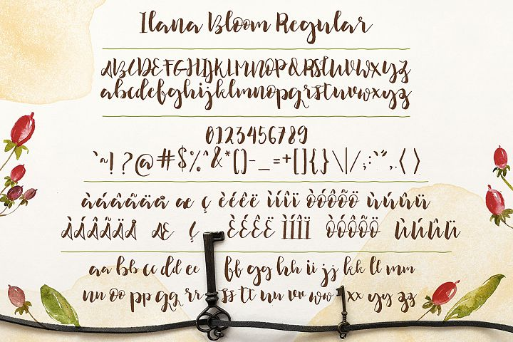 Ilana Bloom - Free Font of The Week Design3