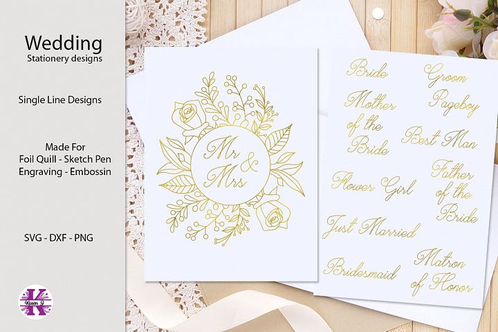 Wedding Stationery Designs for Foil Quill