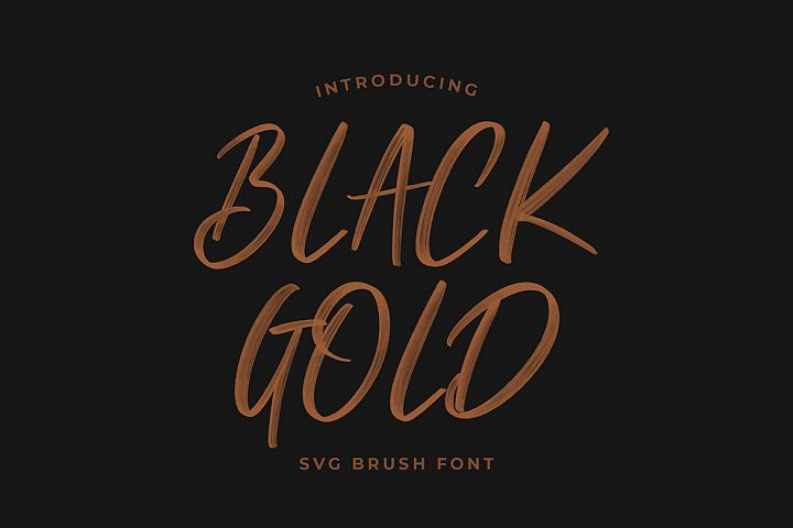 Black Gold Svg Brush Font