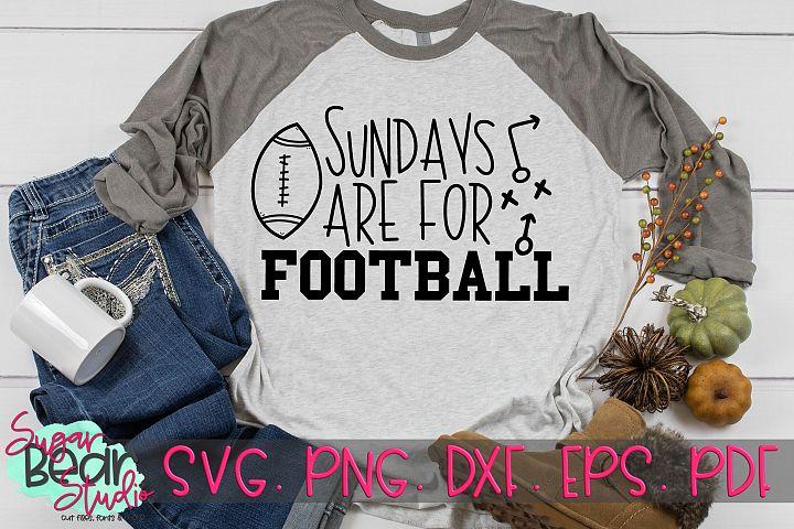 Sundays Are For Football - A Football SVG