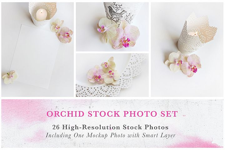 Orchid Stock Photo Set