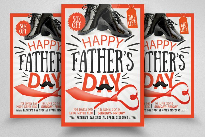 Happy Fathers Day Flyer/ Poster Template