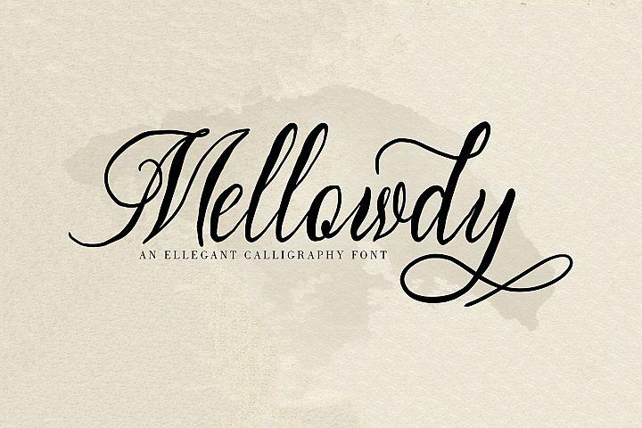 Mellowdy | A Calligraphy Script Font