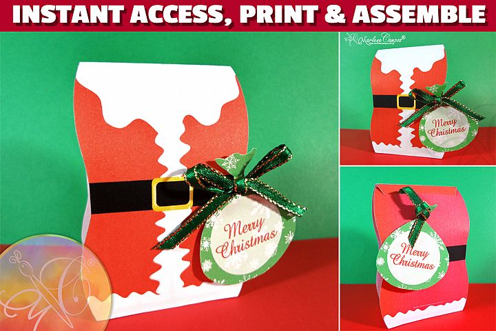 Santa Claus Favor Box, Christmas Favor Box PRINTABLE