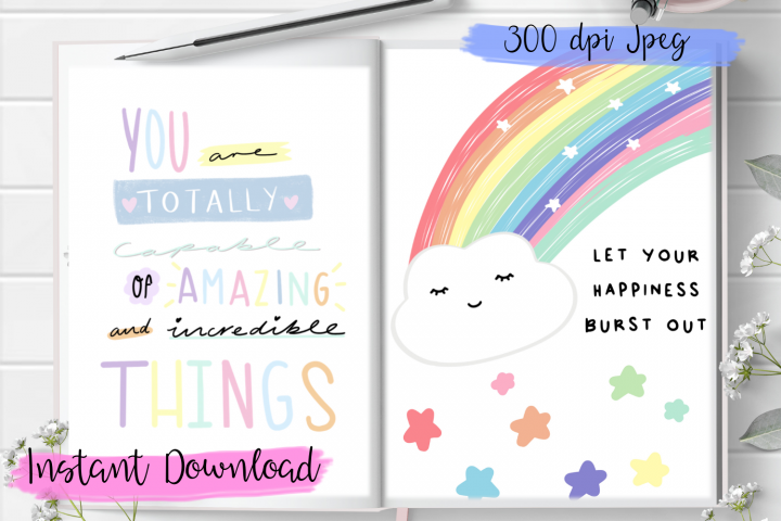 Printable Planner Insert, Planner Divider! Quotes.
