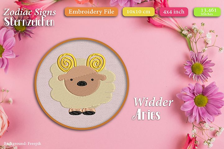 Zodiac sign - Aries - Embroidery Files