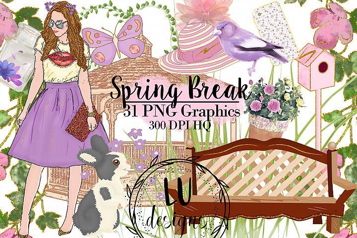 Spring Clipart Set