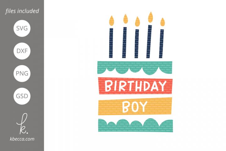 Birthday Boy Cake SVG