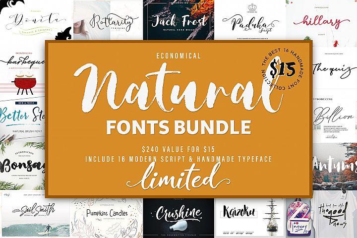Natural & Script Fonts Bundles Vol. 01