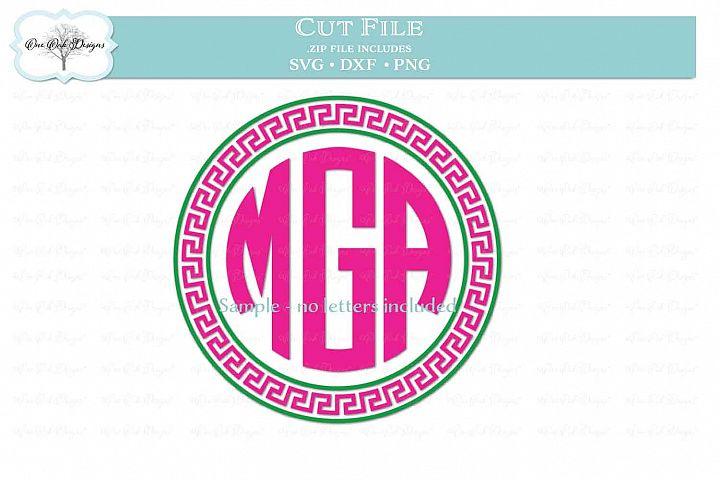 Greek Key Circle Frame for Monogram
