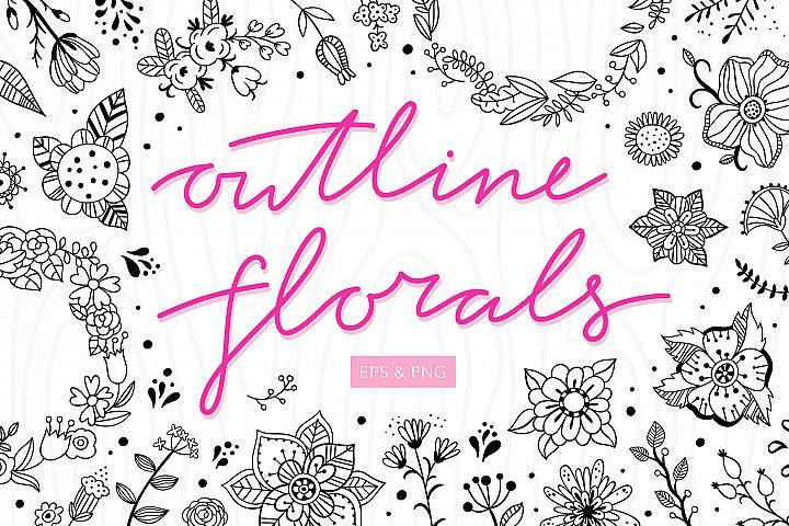 Outline Florals
