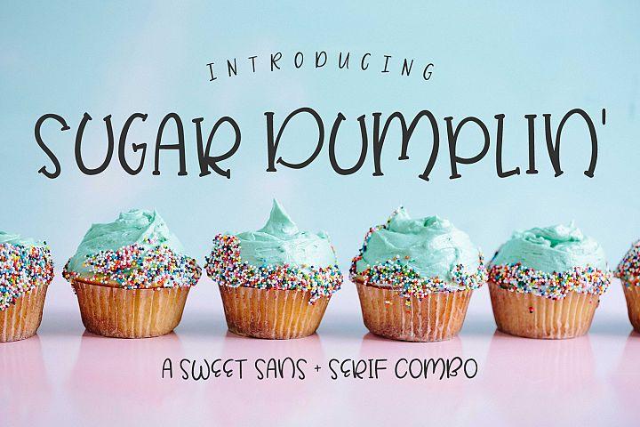 Sugar Dumplin Sans & Serif Font Duo