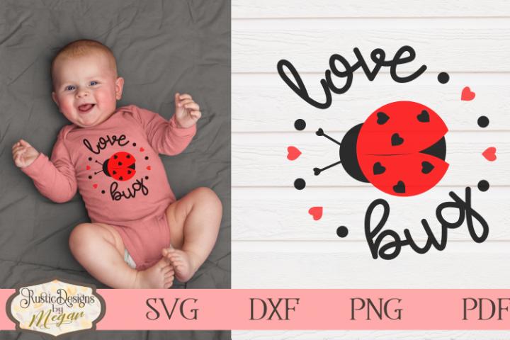 Valentine Love Bug - Lady bug cut file