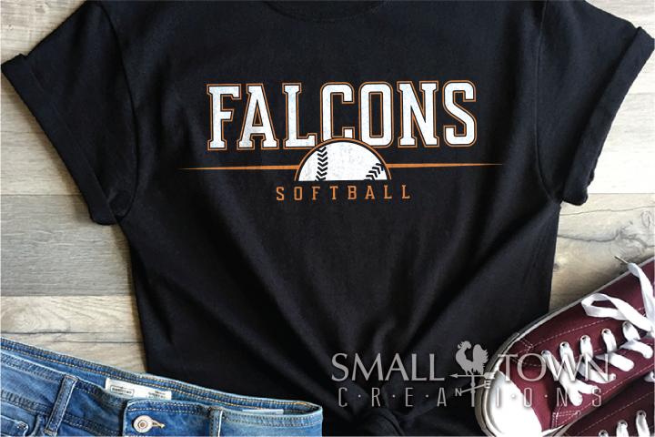 Falcon Softball, Sports, Team, logo, PRINT, CUT & DESIGN