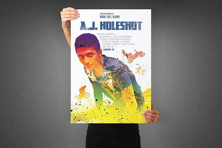 Holeshot Movie Poster Template