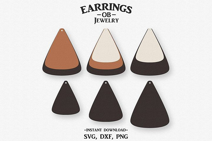 Earring Svg, Teardrop, Stacked, Cut File