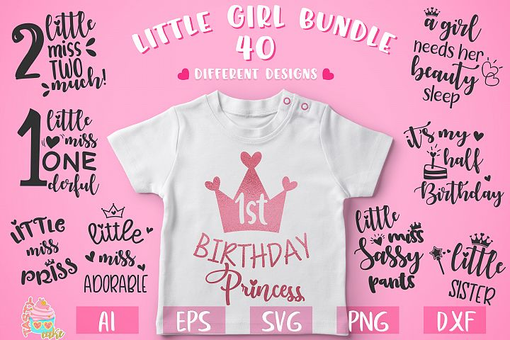 Little Girl Bundle - Little Girl SVG Files