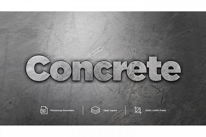 Concrete Text Effect Design Photoshop Layer Style Effect