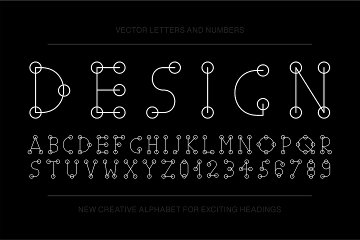 Vector english stylized alphabet