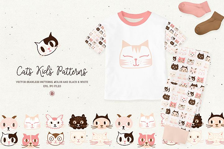 Cats Kids Patterns