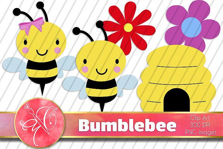 Bumblebee Clip Art / 9 PNG images