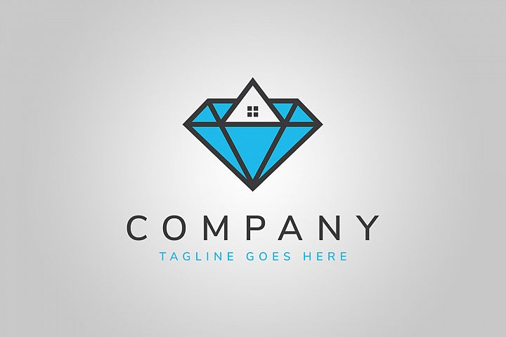 Diamond House Logo Template