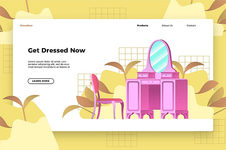 Dressing Table - Banner & Landing Page