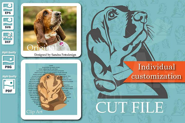 Customized - Stylish cutting file plus clip art from your ph