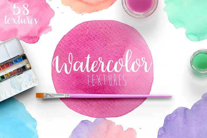 Watercolor textures example 1
