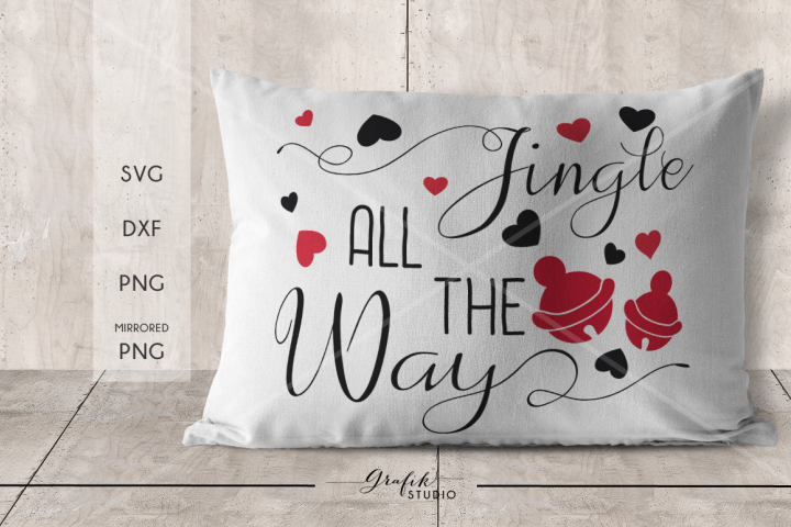 Jingle all the way Holidays Christmas SVG File