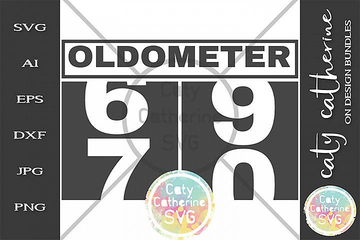 70 Seventy Seventieth Birthday Oldometer SVG Cut File