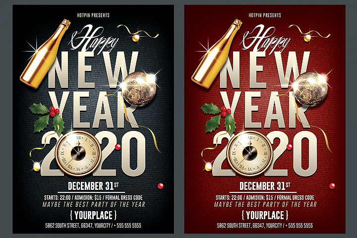 New Year Party Flyer Template