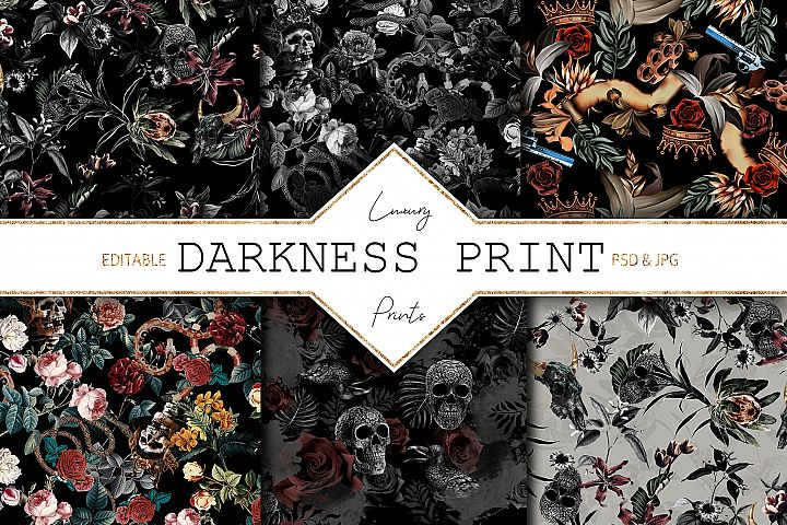 Darkness Print | 6 Amazing Patterns
