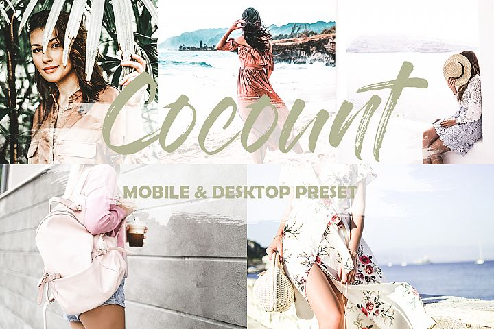 5 Mobile and Desktop Lightroom Presets Cocount