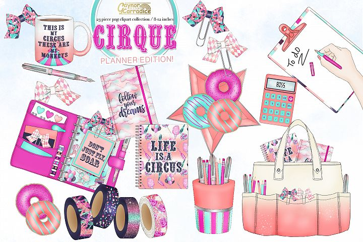 Cirque - circus planner clipart collection