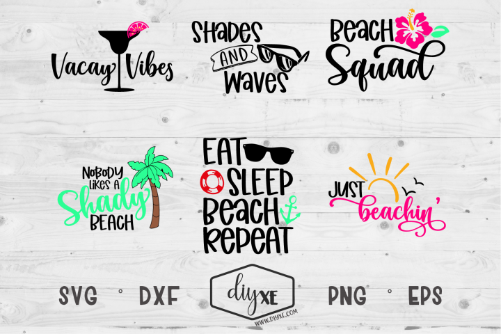 Just Beachin Bundle - A Collection Of Beach SVGs