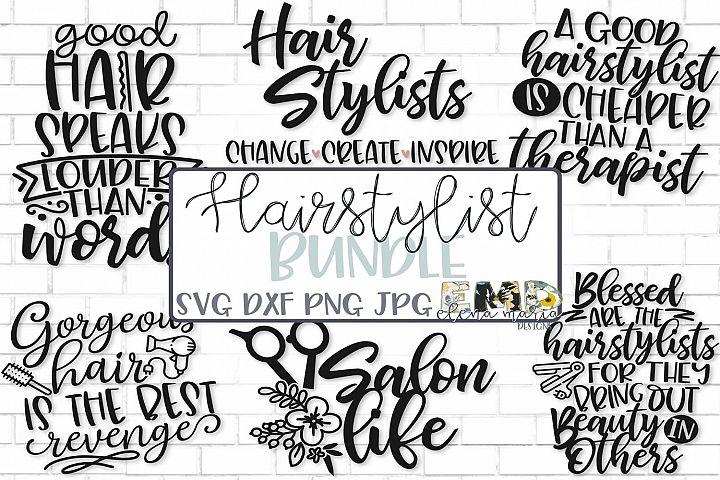 Hairstylist Hairdresser Salon Svg File Bundle