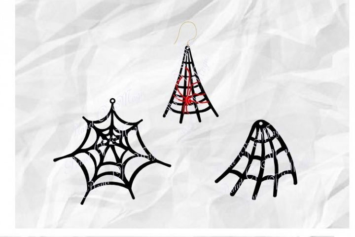 Spiderweb Earrings Svg, Earrings SVG, Halloween Earrings SVG