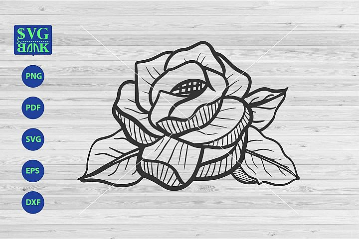 Big flower Svg, single flower cut file, flower artwork