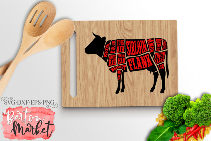 Cow Butcher SVG DXF EPS PNG