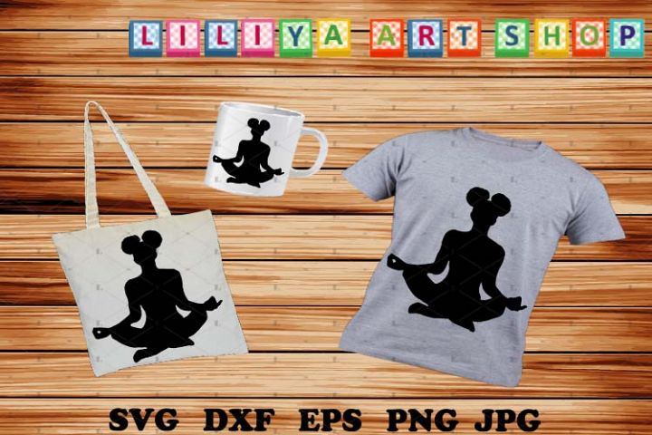 Afro Yoga svg,Afro woman svg,Black woman svg