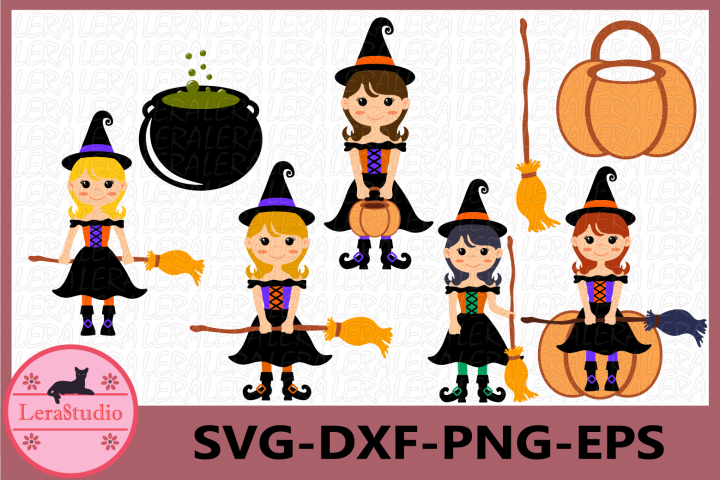 Witch Clipart, Witch Svg, Halloween Svg, Halloween Witches