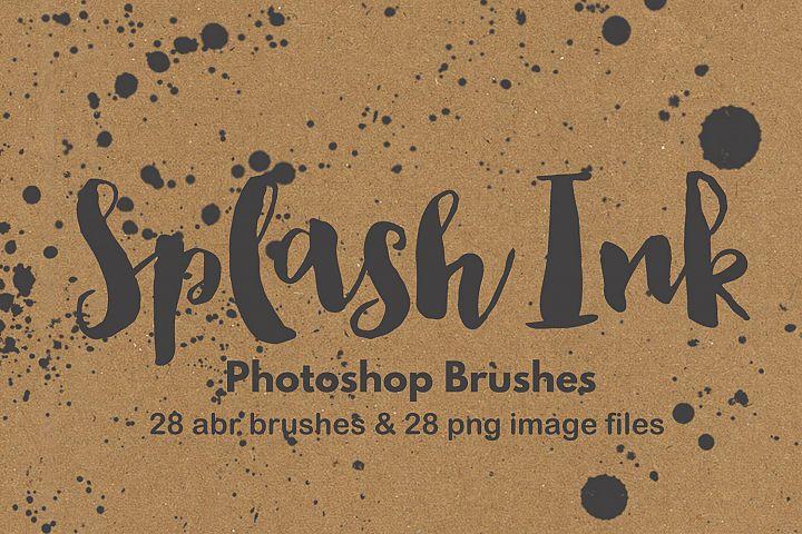 Photoshop brush watercolor paint splatter grunge background