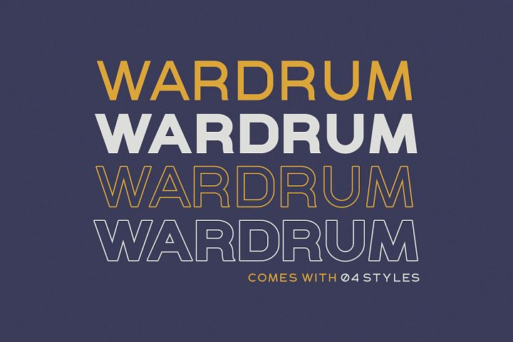 WARDRUM - Expanded Sans example image 2